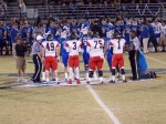 PCHS captains Darren Price (49), Jean Jacques-Louis (3), Jace Norus (75) & Traige McClary (1)